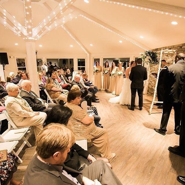 Beautiful Indoor Wedding Ceremony: The Indoor Ceremony Site Is Bright And Beautiful