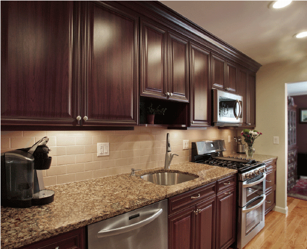 How to Pair Countertop Colors with Dark Cabinets   Trendy ... on Modern Backsplash For Dark Countertops  id=70699