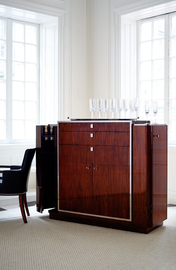 Ralph Lauren Homeu0027s Iconic, 1930u0027s Inspired, Duke Bar Cabinet, In Rosewood  With