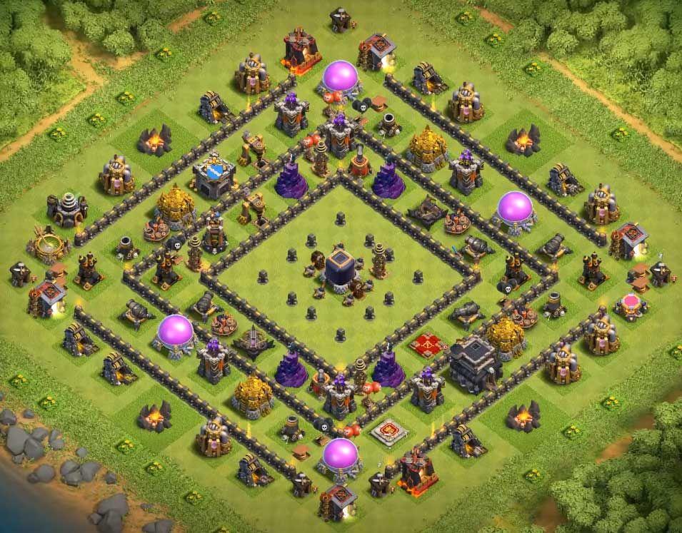 Th9 Dark Elixir Farming Base Link 8