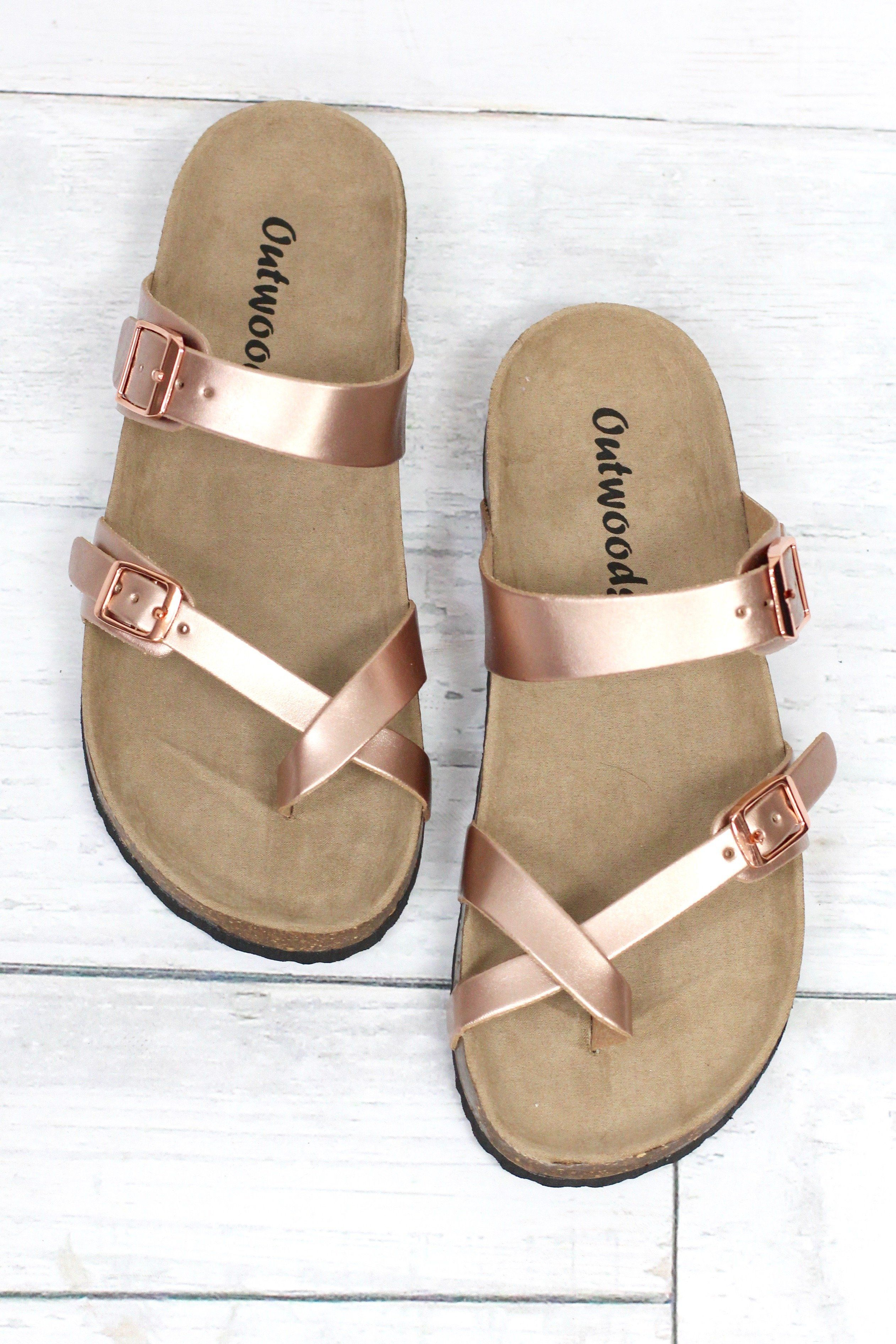 b6deb450e9dc Similar looking to the Birkenstock sandals at a fraction of the cost! Toe  strap