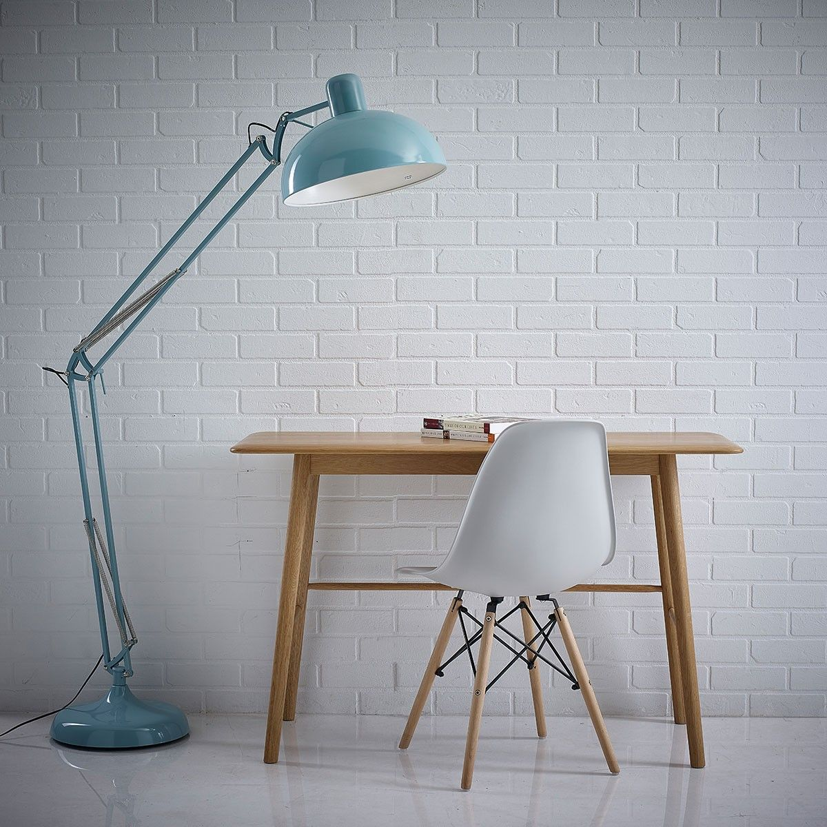 Blue floor lamp  HUTCH  Retro Pale Blue Angled Floor Lamp  Brights  Pinterest