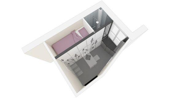 cette chambre de bonne de 8 m ne fait pas r ver mais attendez de voir ce qu 39 ils en ont fait. Black Bedroom Furniture Sets. Home Design Ideas