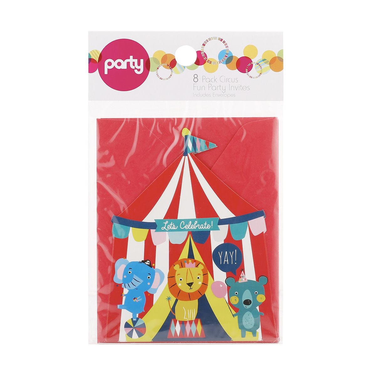 Party Invites Circus Fun, Pack of 8 Kmart 2 Party
