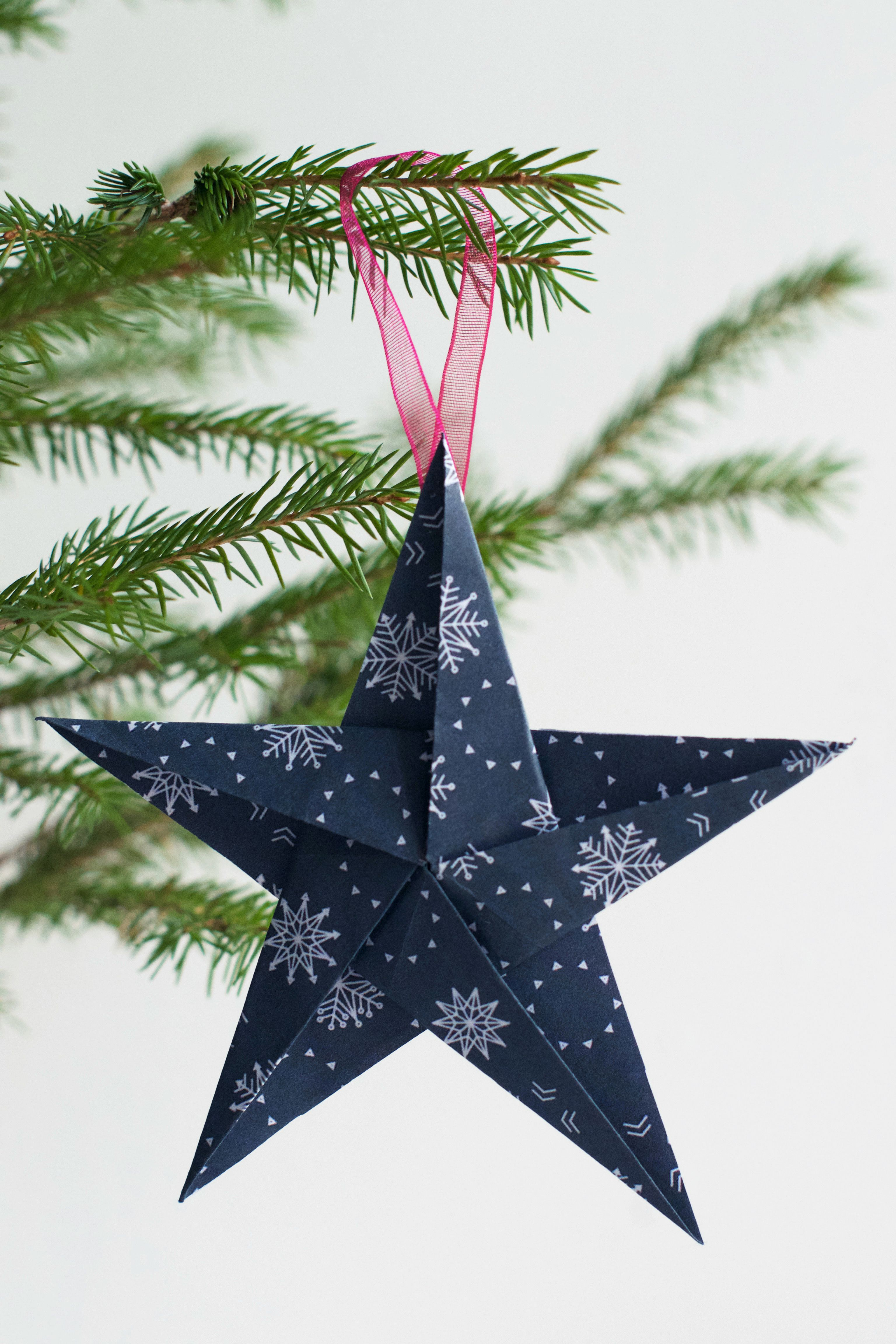 DIY Origami Star Ornament Hungry Heart Christmas