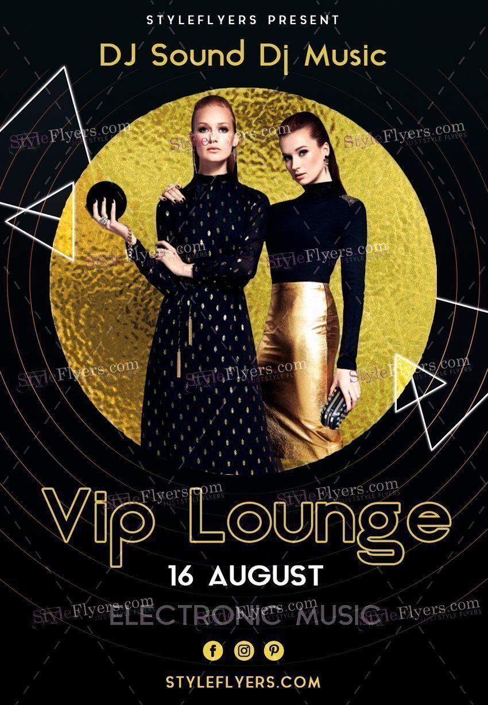 Vip Lounge Psd Flyer Template  Flyers    Psd Flyer