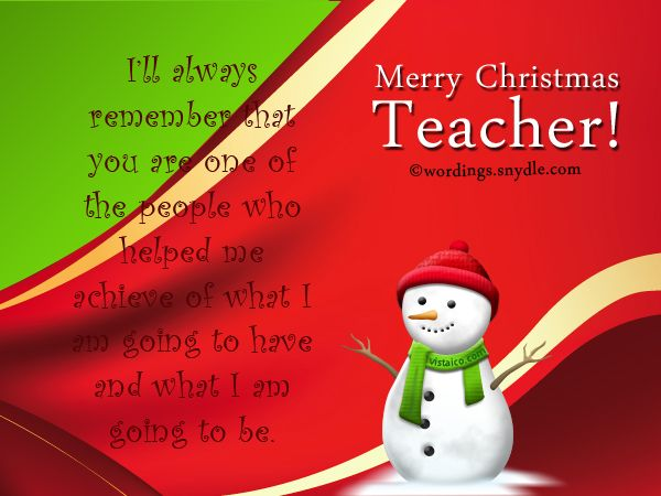 Christmas Messages for Teachers - Wordings and Messages ...