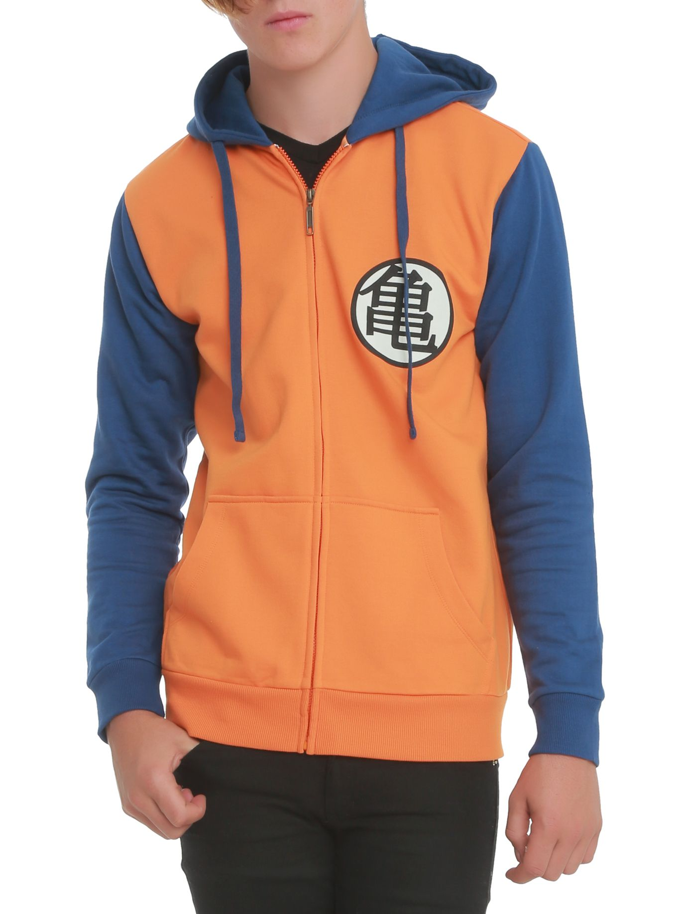 Dragon Ball Z Kame Symbol Contrast Zip Off Hoodie Wish List