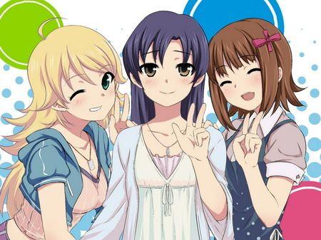 Anime Girls Doing Peace Signs Awesome Anime Anime Manga Girl