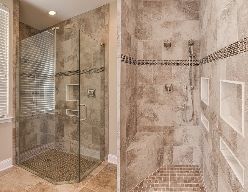 Small enclosed master bath shower with quality tile work. | Design ...