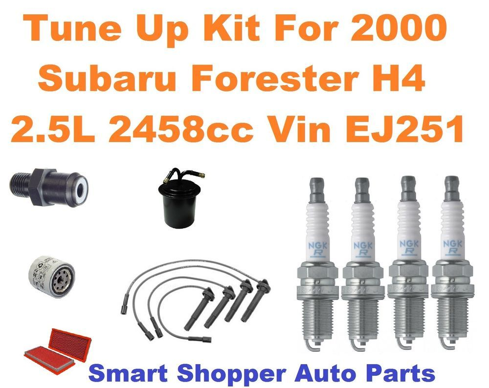 Tune Up Kit For 2000 Subaru Forester H4 2 5l Spark Plug