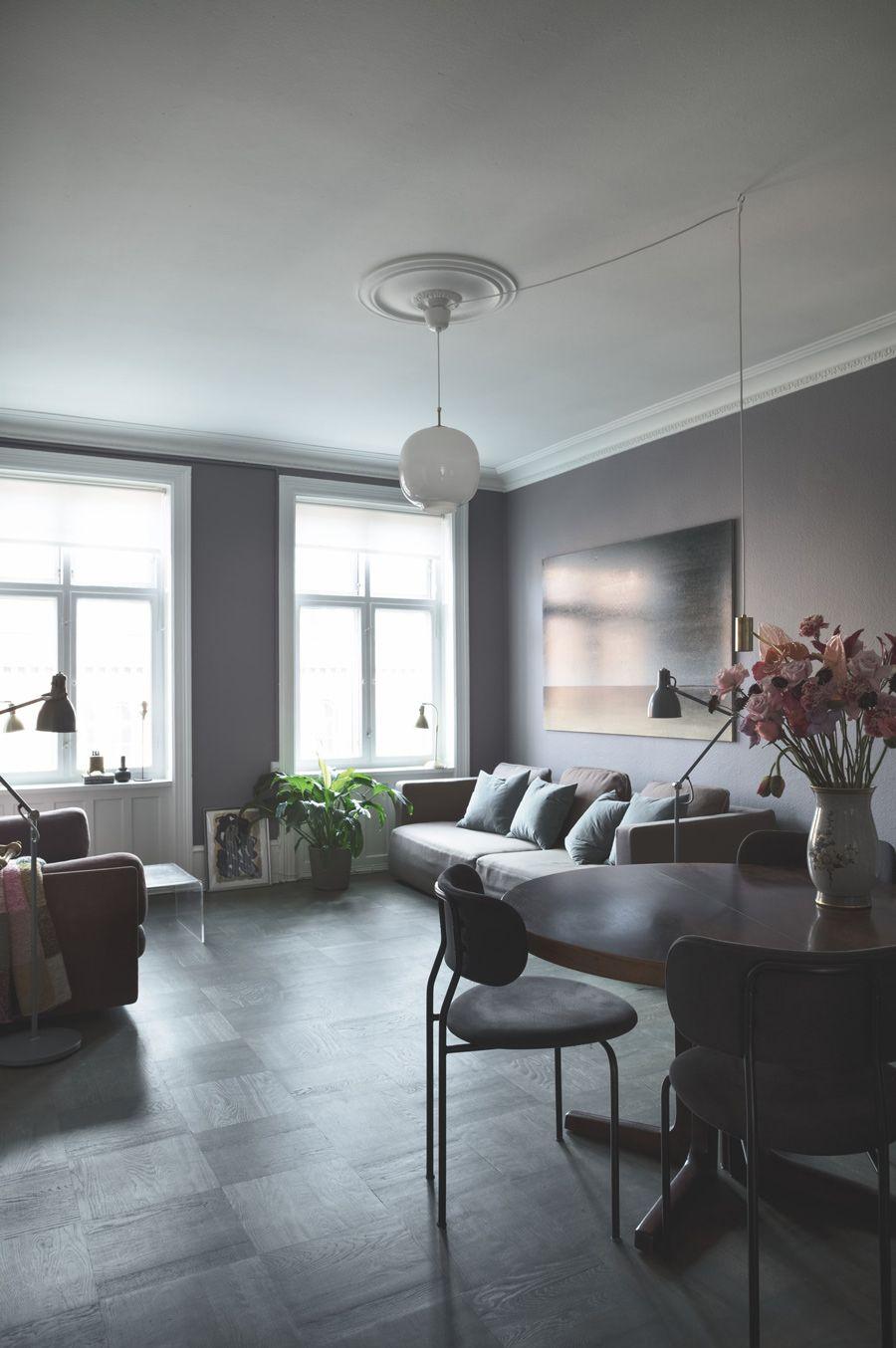 A Copenhagen Apartment with a Dark and Dramatic Interior ...