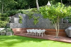 Bildergebnis für gartengestaltung hanglage gabionen | Garten ...