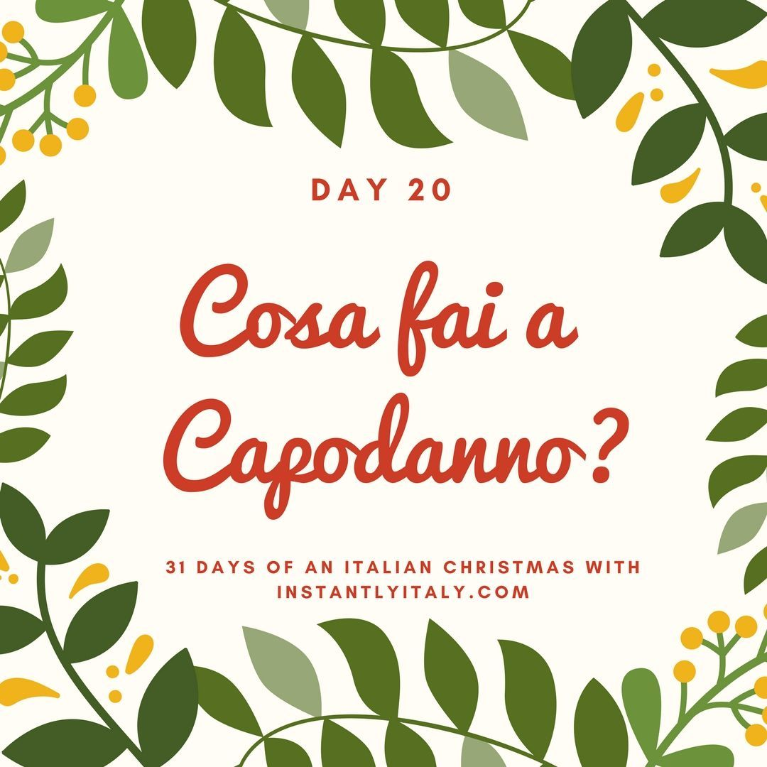 Day 20 of 31 Days of An Italian Christmas #learnitalian | Italiano ...