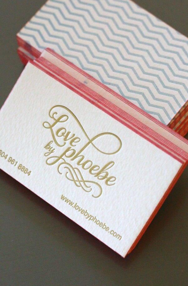 Love Phoebe Business Card Design Printing Business Cards Edge Painted Business Cards