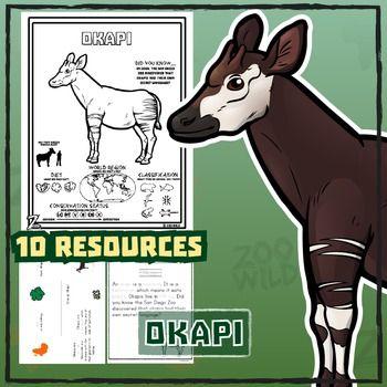Okapi - 15 Zoo Wild Resources - Leveled Reading, Slides & Activities ...