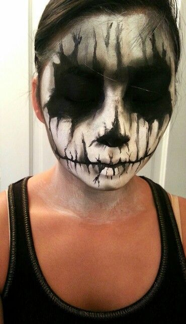 Special effects makeup corpse demon skeleton face paint for Face painting rates