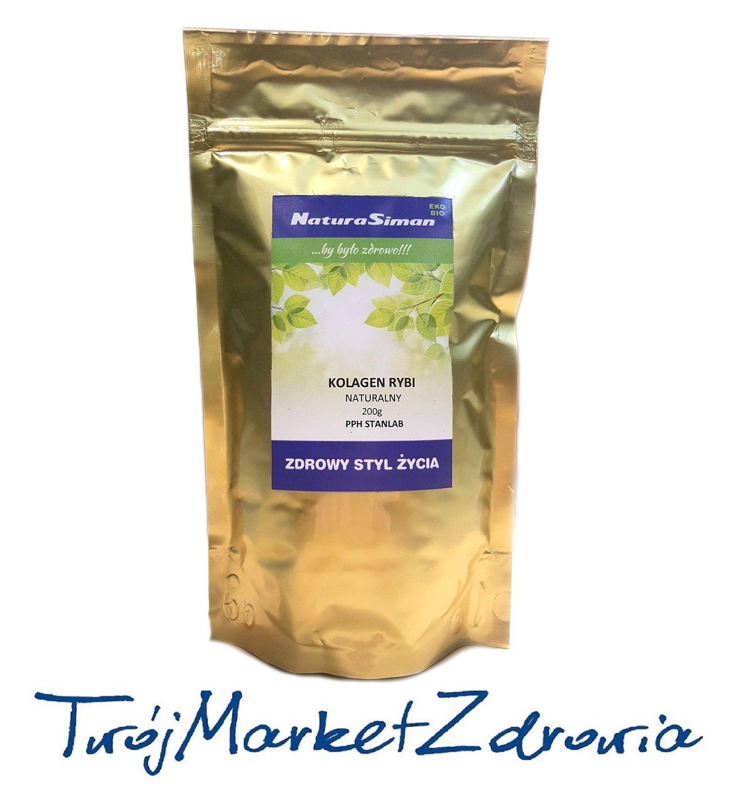 Kolagen Naturalny Rybi Czysty Naticol 200g Stanlab Vitamins Food Drinks