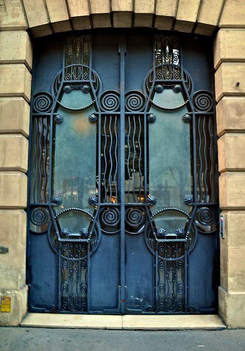 Art Nouveau Iron Doors. Paris, France