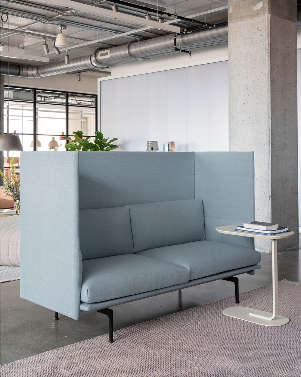 Minimal And Modern Office Sofa Interior Inspiration From Muuto The Outline Highback Sofa Combines Office Sofa Design Scandinavian Furniture Design Office Sofa