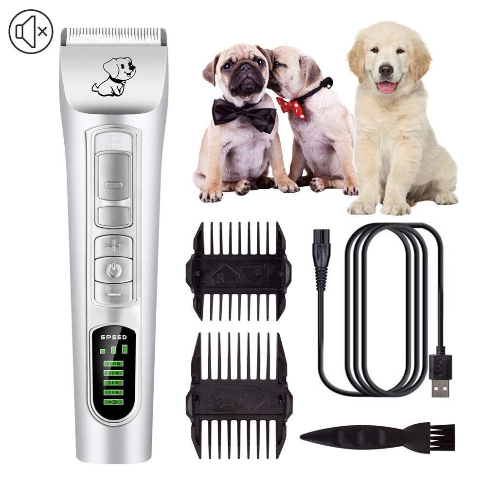Best Shaver for Dogs Cats Pets Cordless Dog Grooming Clippers Low Noise,Quiet Rechargeable Pet Hair Trimmer,Professional Dog Grooming Kit Dog Grooming Clippers