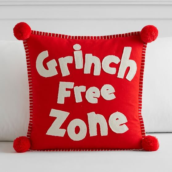 Grinch Free Zone Pillow Cover Christmas Pillow Covers