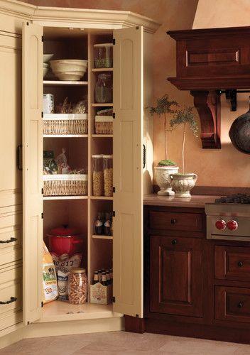 Corner Kitchen Pantry Cabinet Design Ideas