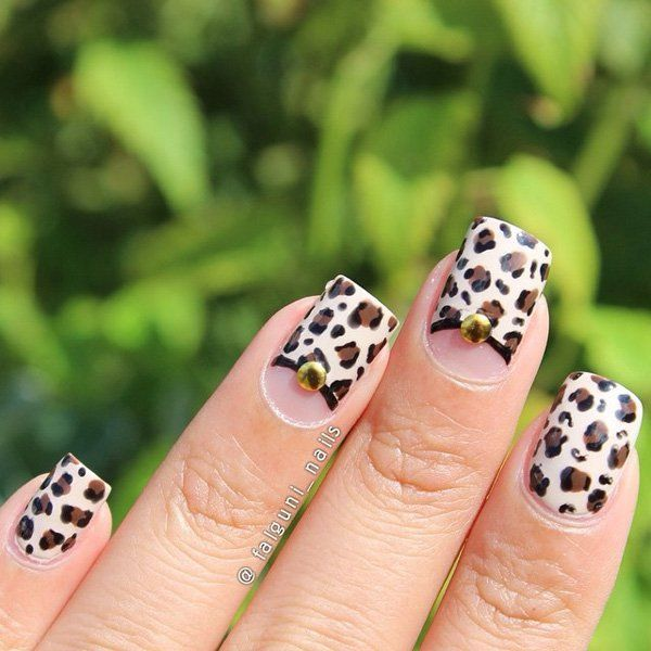 Leopard designs are still in. Just leave a space for the half moon ...