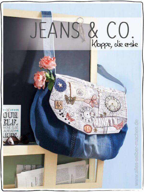 jeans co tasche mit wechselklappe jeans und taschen jeans tasche jeanstasche selber. Black Bedroom Furniture Sets. Home Design Ideas