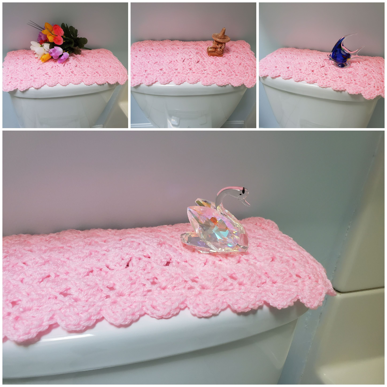 Toilet Tank Topper Crochet Toilet Tank Topper Bathroom Decor Petal Pink Ttt1n Crafts To Make Sell Crochet Home Diy Craft Projects