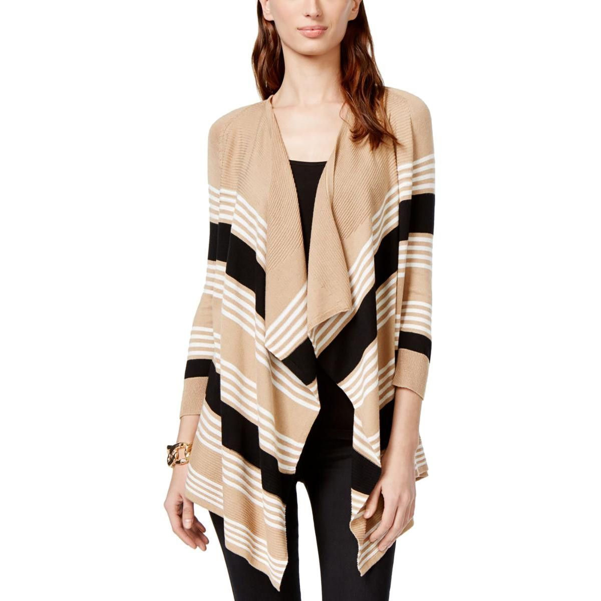 Womens Knit Striped Cardigan Sweater | See more best ideas about ...