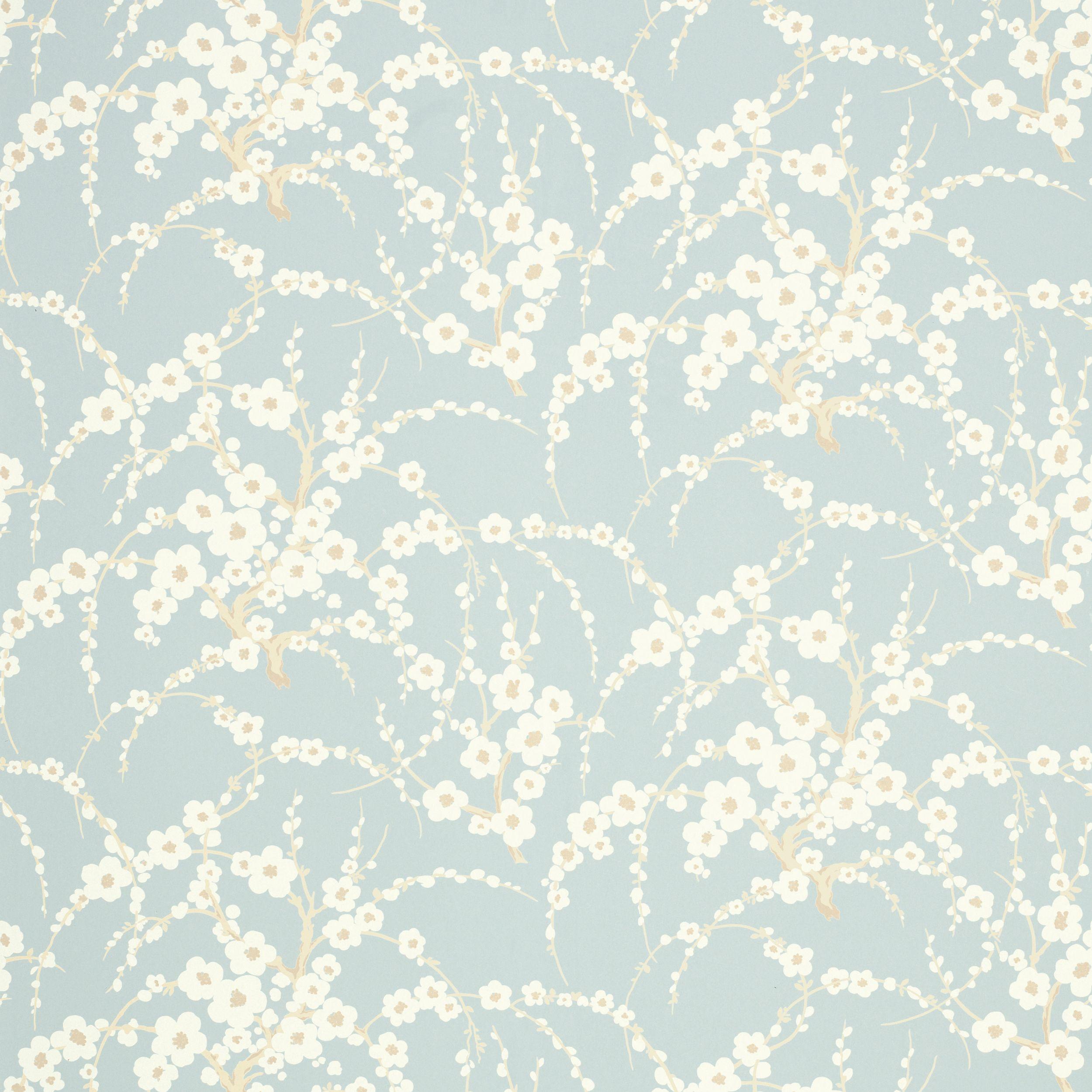 Lori Duck Egg Floral Wallpaper