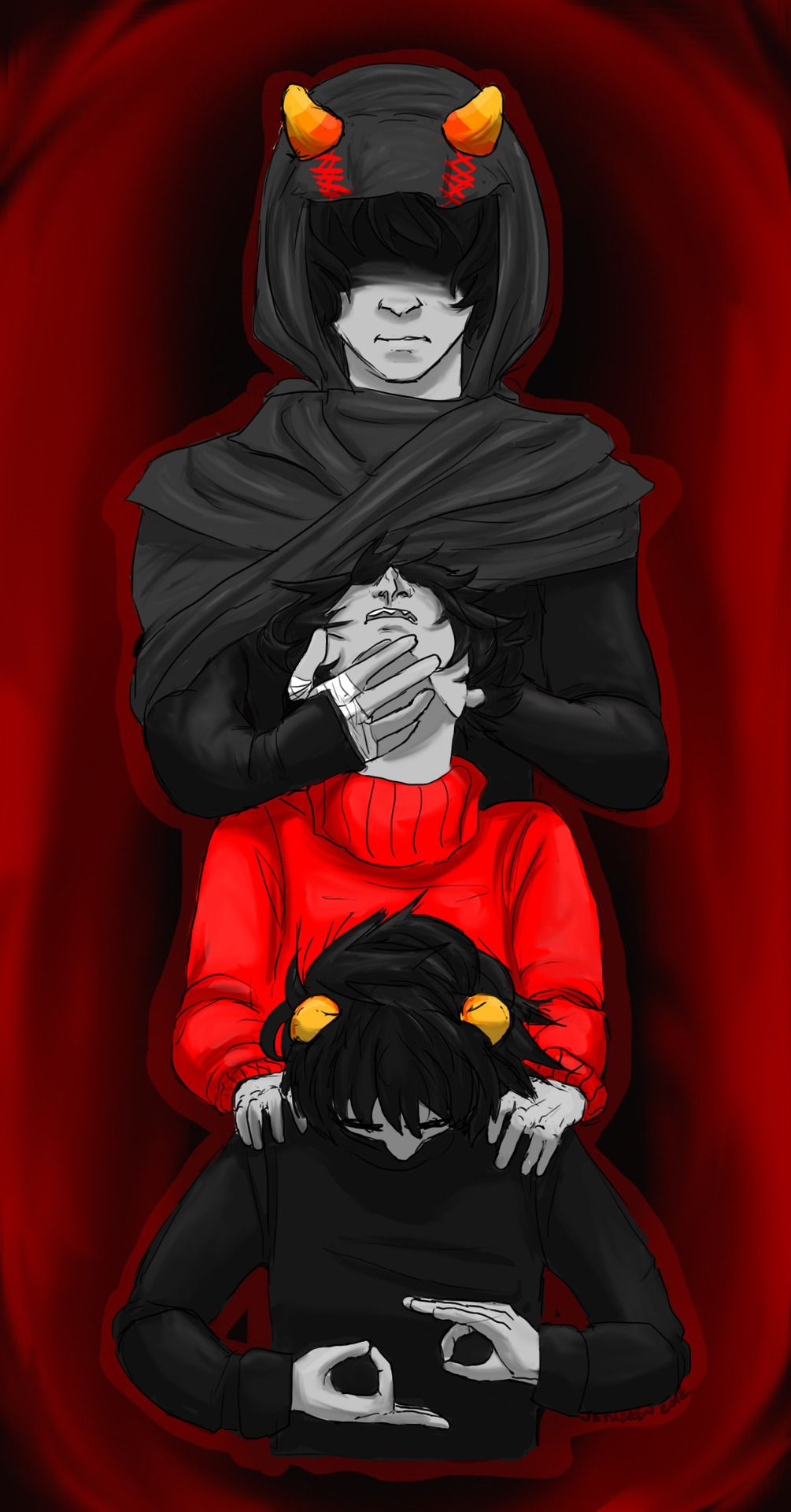 The signless Karkat and kankri<<<I know that this is