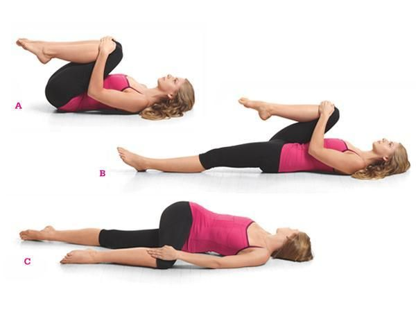 12 Yoga Poses For A Flatter Belly: Easy Spinal Twist http://www.prevention.com/fitness/yoga/flat-belly-yoga?s=12