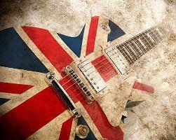 ohpopsi Great British Union Jack Rock Guitar Grunge Wall Mural