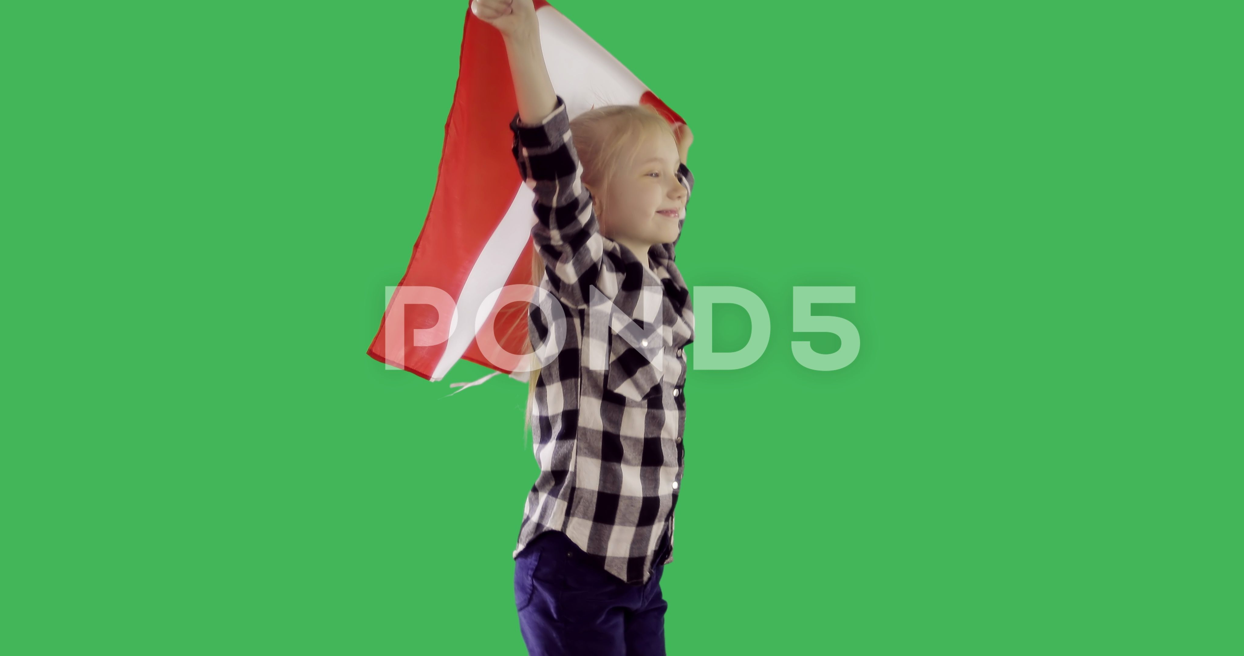 Teenager Girl Holding A Canadian Flag And Running On Chroma Key Green Screen Stock Footage Ad Canadian Flag Running T Canadian Flag Chroma Key Teenage Girl
