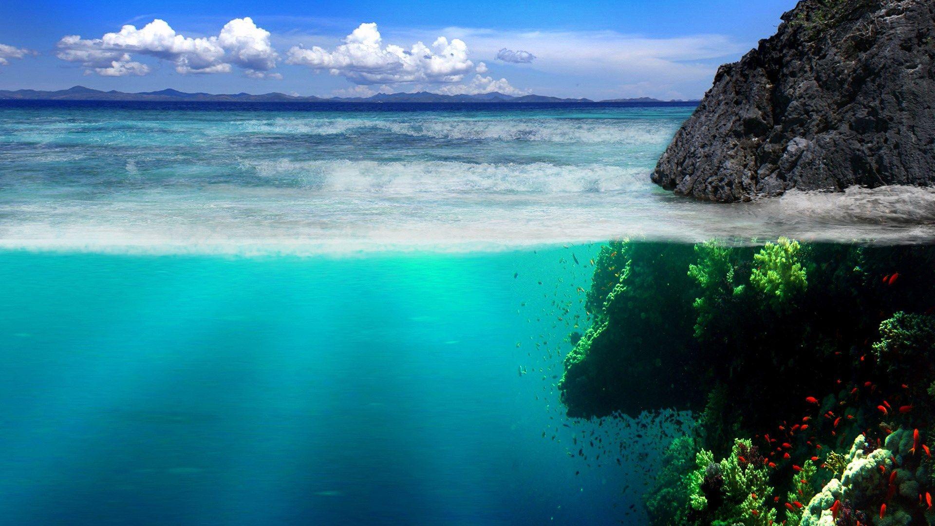 Underwater Wallpapers For Mac Desktop Scenery Wallpaper Ocean Landscape Landscape Wallpaper