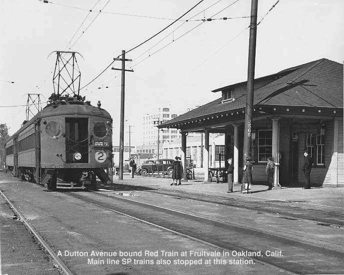 Interurban Electric Railway Car At The Fruitvale Station