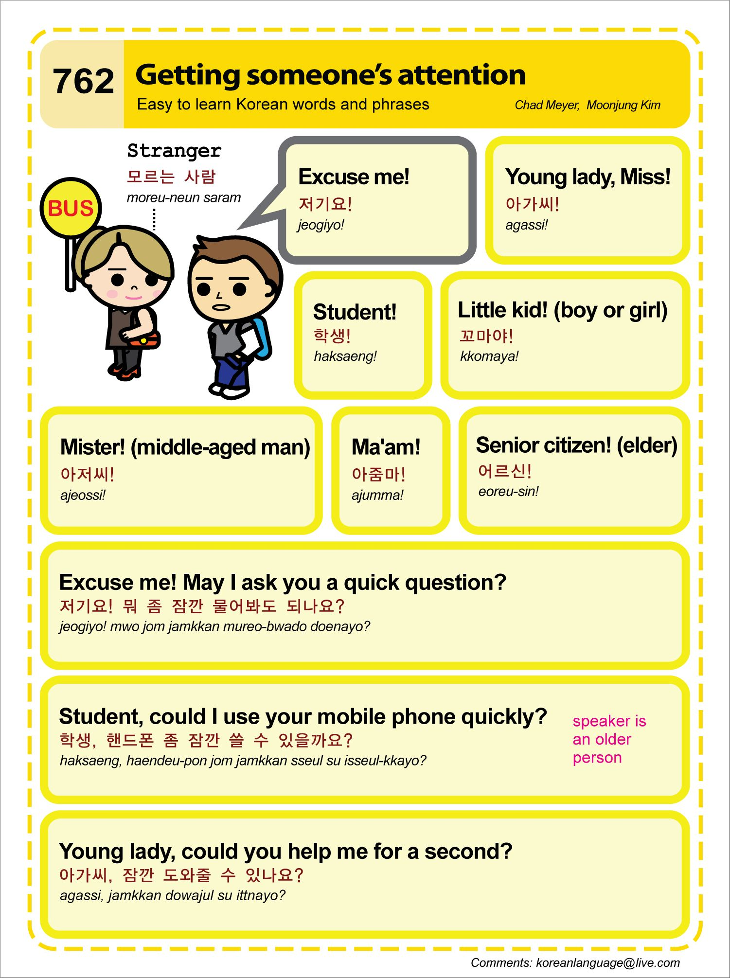 Getting Someone S Attention Easy To Learn Korean