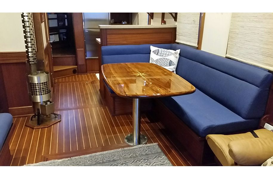 Dining Table For Trawler Custom Table Boat Interior Boat Table