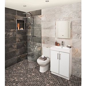Wickes Everest Slate Porcelain Wall Amp Floor Tile 600 X 300mm With Images Bathroom Wall Tile