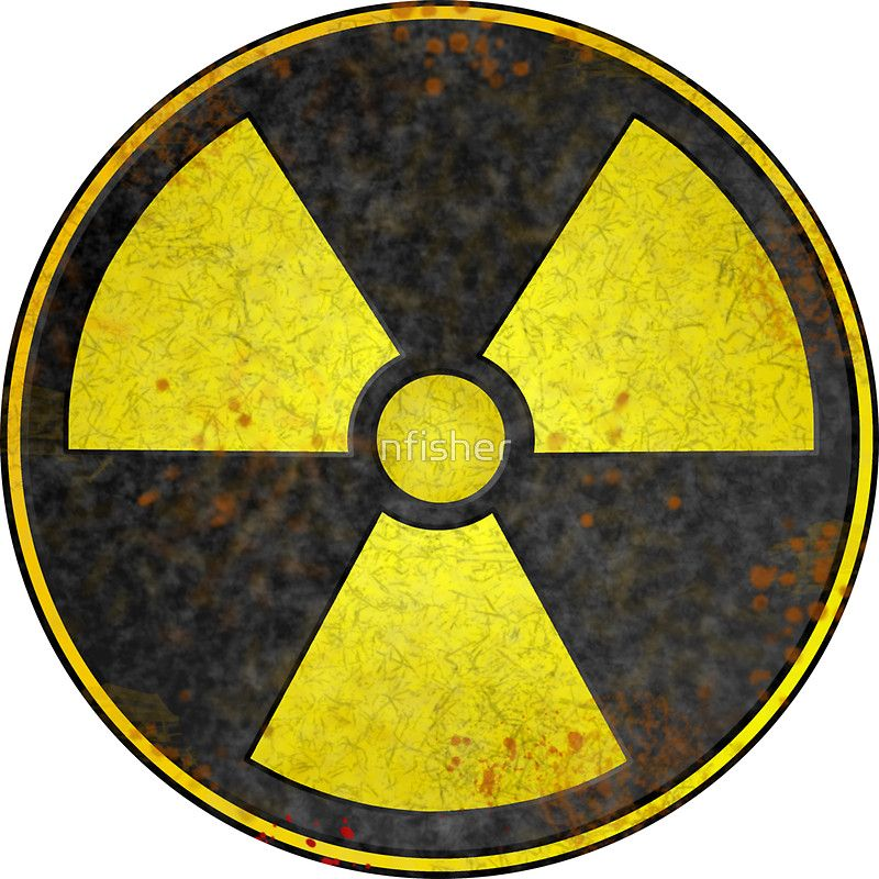 Nuclear Radiation Symbol Worn Sticker Ellys Hazard Party Pinterest