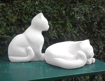 décoration de jardin en siporex déco,jardin,chat | Sculpture ...