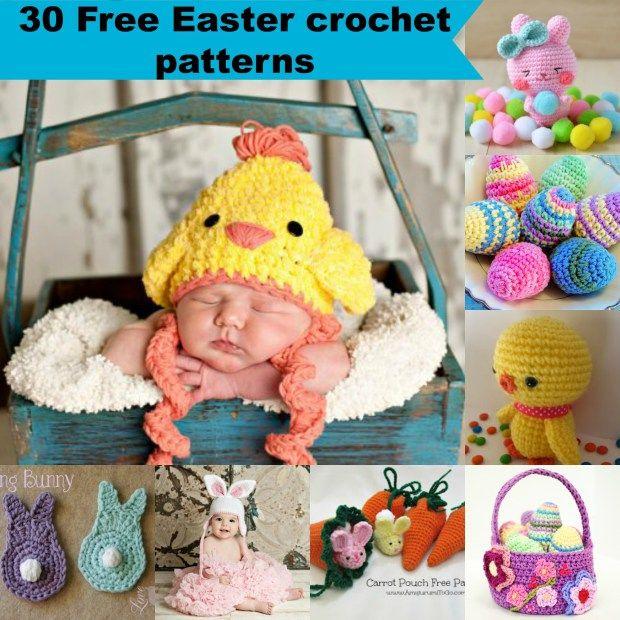 30 Free Easy Easter Crochet Patterns Diy Crocheting Pinterest