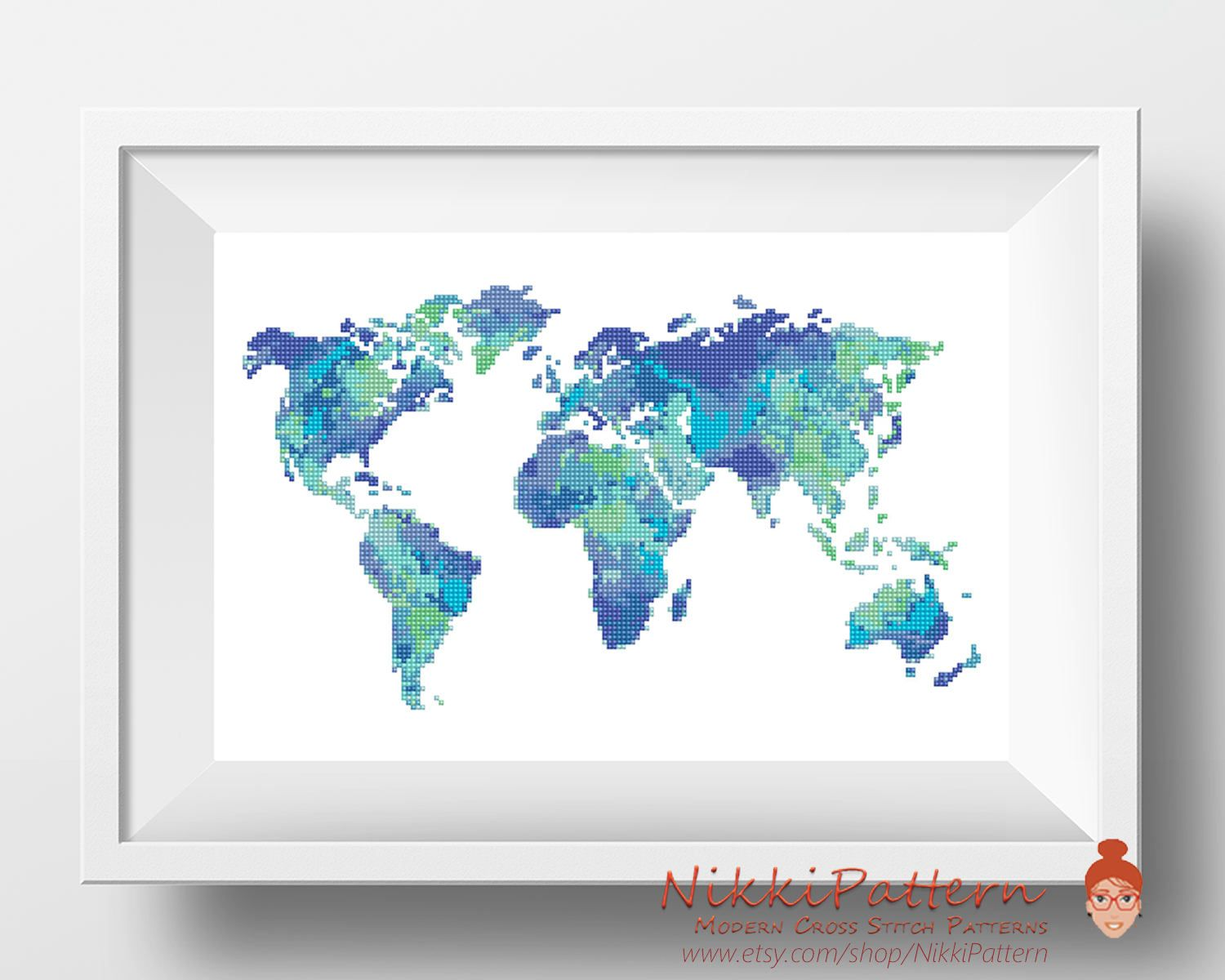 World cross stitch pattern watercolor cross stitch map silhouette world cross stitch pattern watercolor cross stitch map silhouette embroidery chart modern counted gumiabroncs Image collections