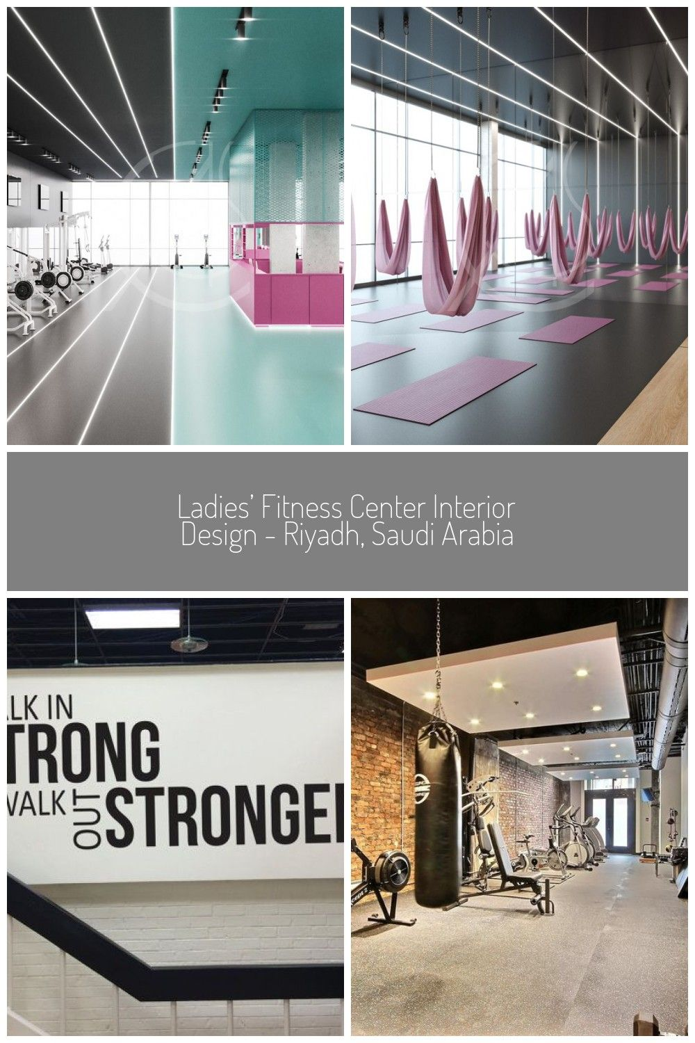 Various activities can take place in this spacious fitness room in the ladies fitness center, furnis...