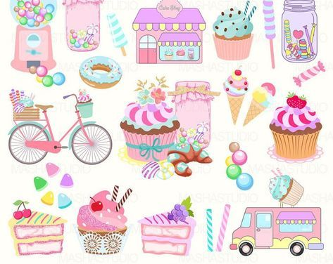 Dulces Imagenes Predisenadas Imagenes Predisenadas De Torta Dulces Imagenes Predisenadas 15041 Bycicle In 2020 Candy Shop Sweets Clipart Candy Clipart