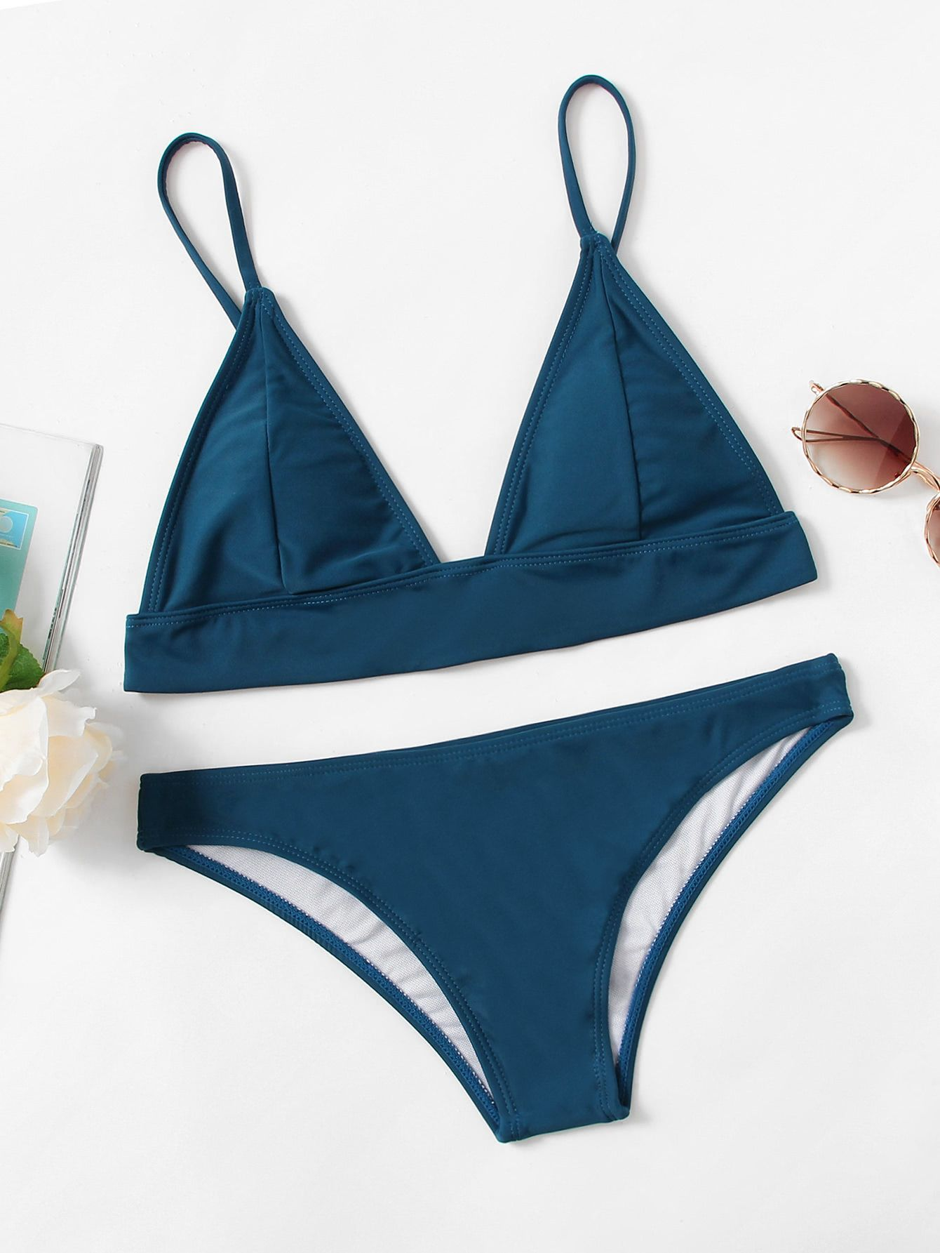 ce3d50657c Shop Adjustable Strap Triangle Bikini Set online. SheIn offers Adjustable  Strap Triangle Bikini Set & more to fit your fashionable needs.