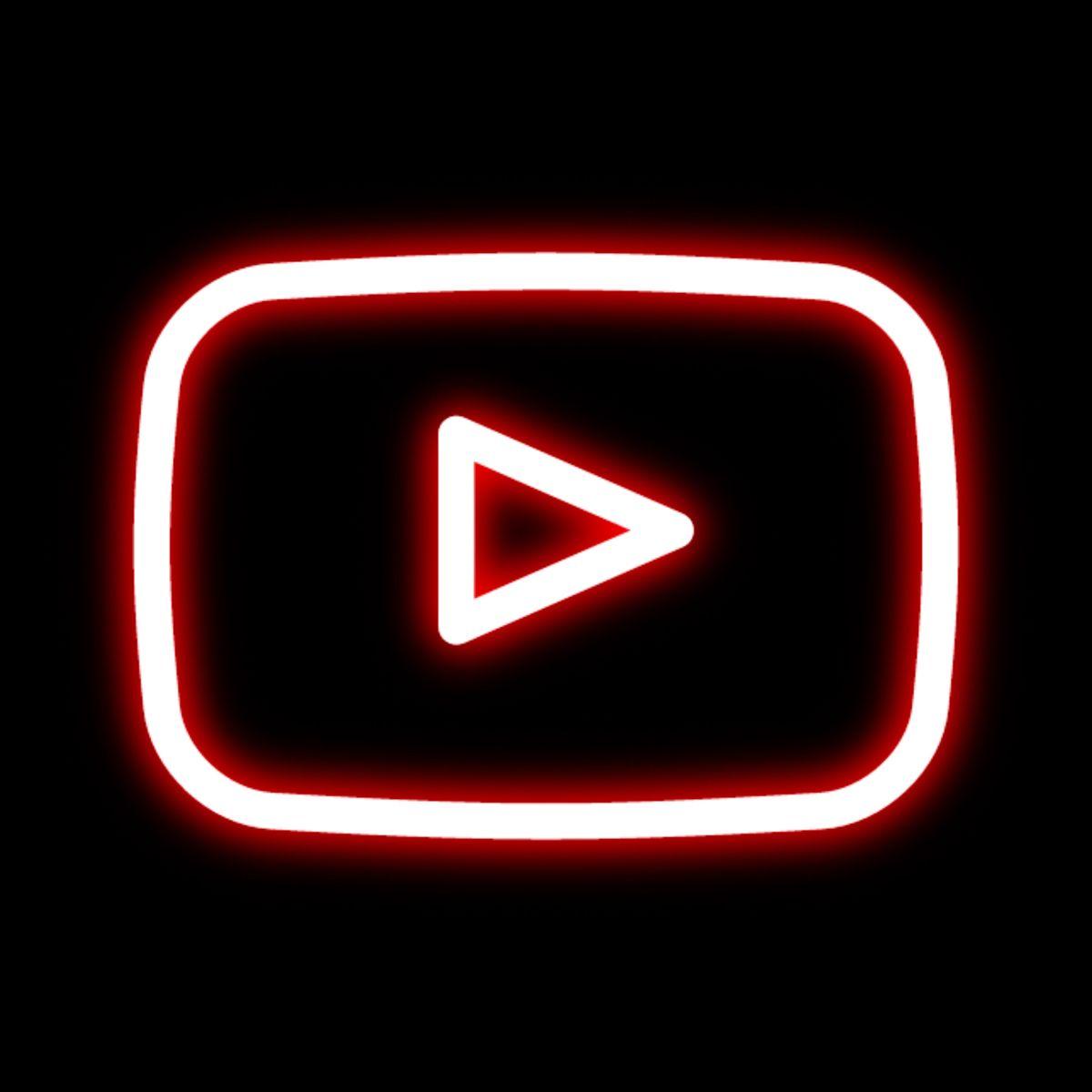 YouTube neon icon