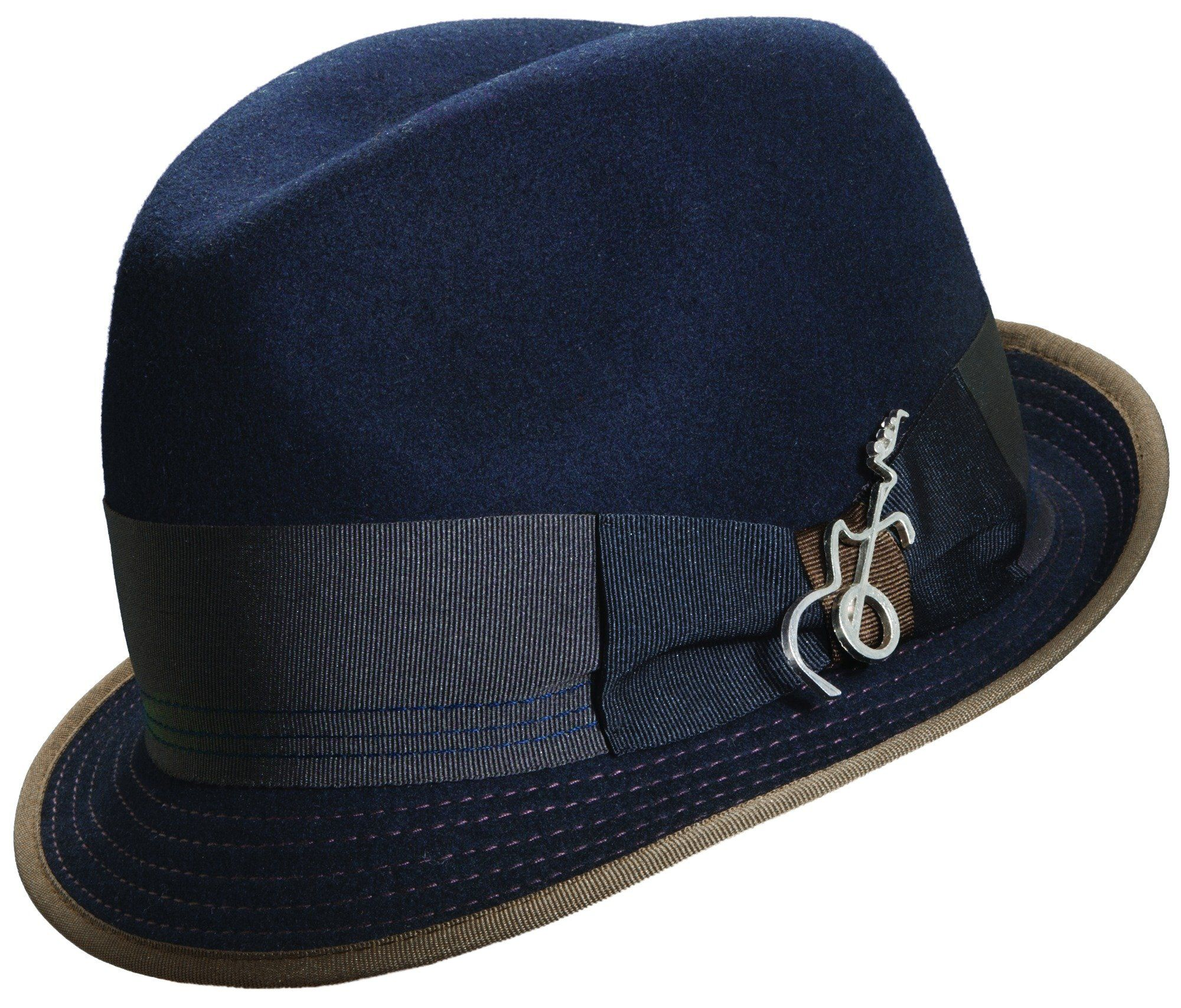 Carlos Santana Fedora Hats - Leader-Navy-L/XL